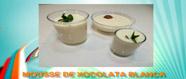 Mousse de xocolata blanca