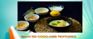 Bany de coco amb textures, llimona i menta
