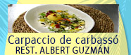 Carpaccio de carbassó d'Albert Guzmán