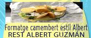 Tapa de formatge camembert estil ALbert
